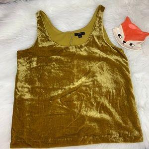 J Crew sleeveless gold velvet top size 10T